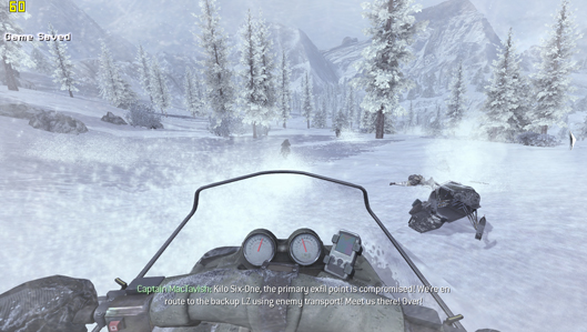 Modern Warfare 2 - Snow Mobile