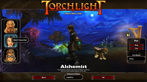 Classes in Torchlight